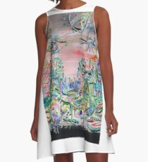 iTALIAN LANDSCAPE REVISITED A-Line Dress