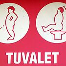 Vintage Toilet Sign Tuvalet In Pamukkale by taiche