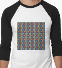 Retro Flower Pattern no.1 Men's Baseball ¾ T-Shirt