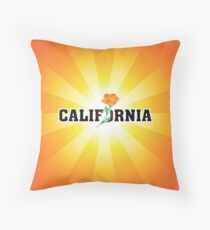 California the Golden State Throw Pillow
