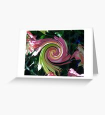 Changing Leaves Swirled Greeting Card