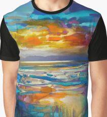 Liquid Cyan  Graphic T-Shirt