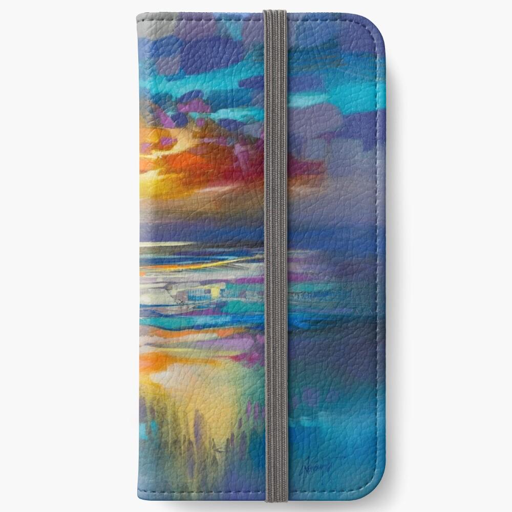 Liquid Cyan  iPhone Wallet