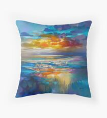 Attirant Liquid Cyan Throw Pillow