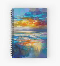 Liquid Cyan  Spiral Notebook