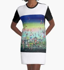 CROWDED AND LIVING Graphic T-Shirt Dress