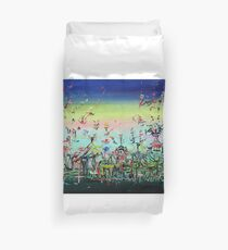 CROWDED AND LIVING Duvet Cover