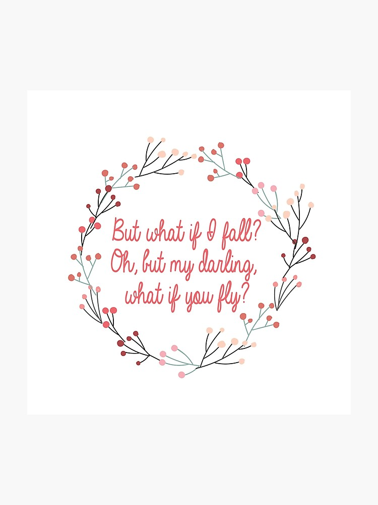 What if you fly   Peter Pan   Movie Quote   Photographic Print