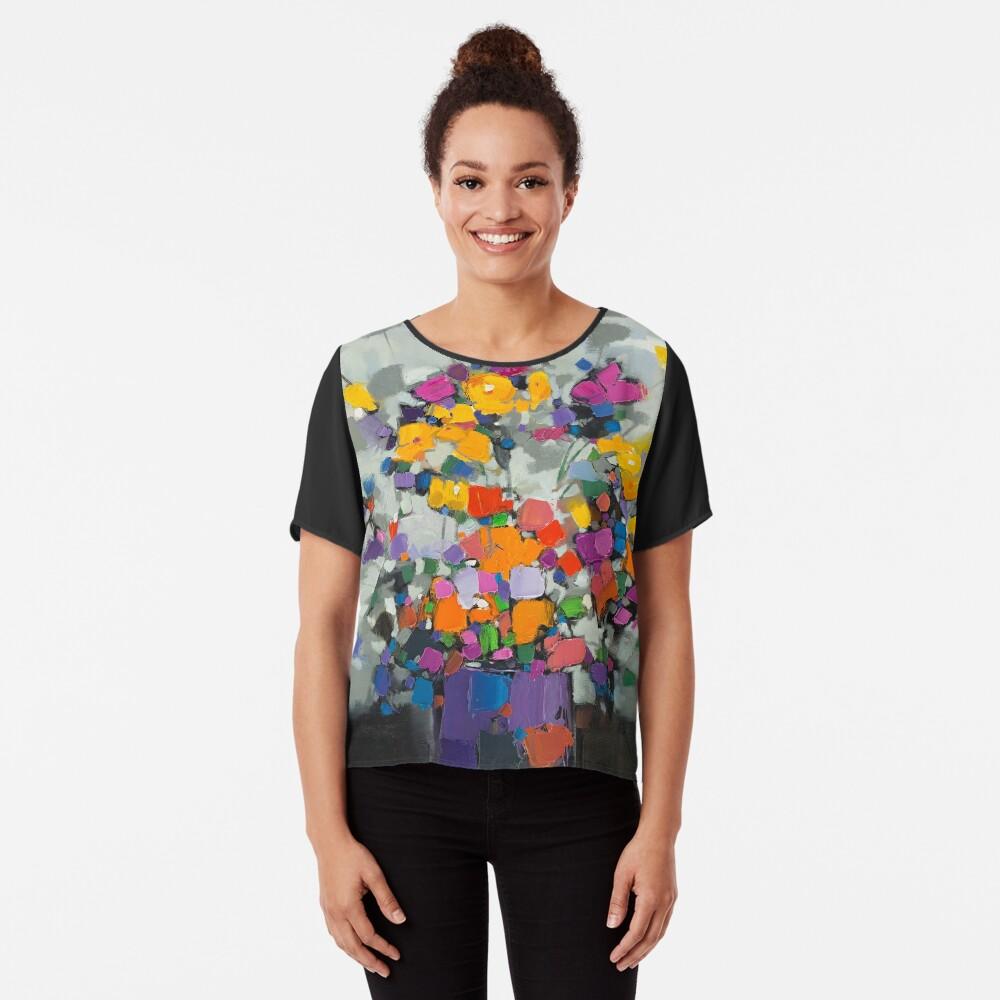 Floral Spectrum 2 Chiffon Top