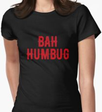 Bah Humbug (red) Women's Fitted T-Shirt