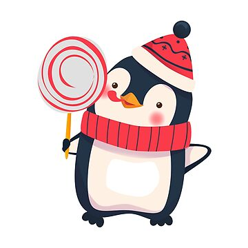 penguin with christmas candy by OllegNik
