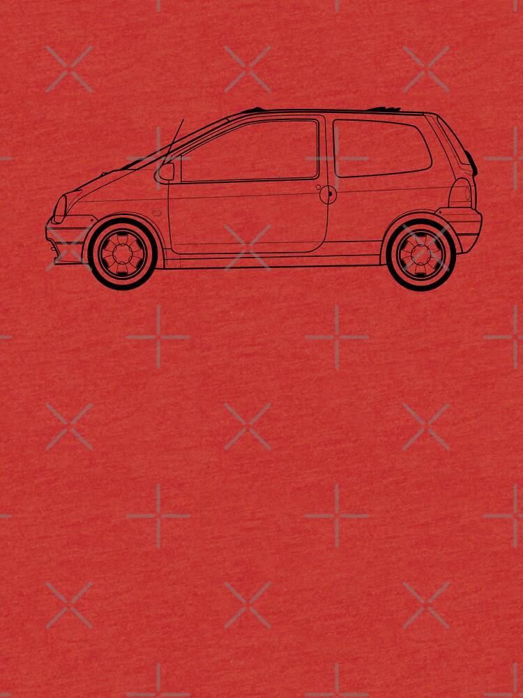 Renault Twingo Outline Artwork (single Car) | Tri-blend T-Shirt