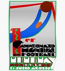 SOCCER; Football Vintage Uruguay Print Poster