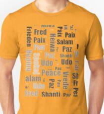 Paz, Salam, Mir, Paix, Pau... Unisex T-Shirt