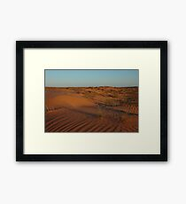 Simpson Desert - evening light Framed Print