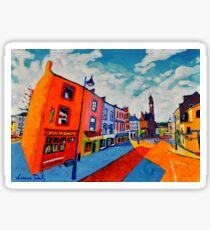 Ballyshannon. Main Street. Donegal, Ireland Sticker
