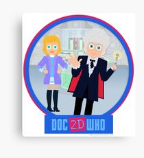 DOC2DWHO - Doctor and Jo Canvas Print