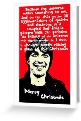 Atheist christmas with brian cox greeting cards by djvyeates atheist christmas with brian cox by djvyeates m4hsunfo