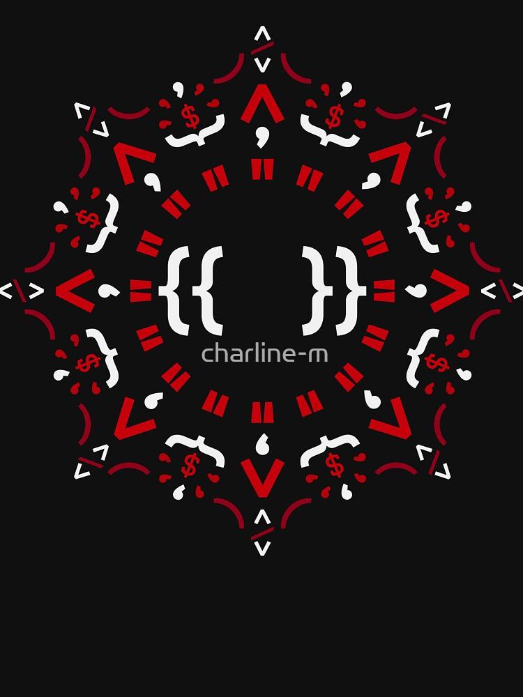 Code Mandala - Eckiges Framework - dunkle Version von charline-m