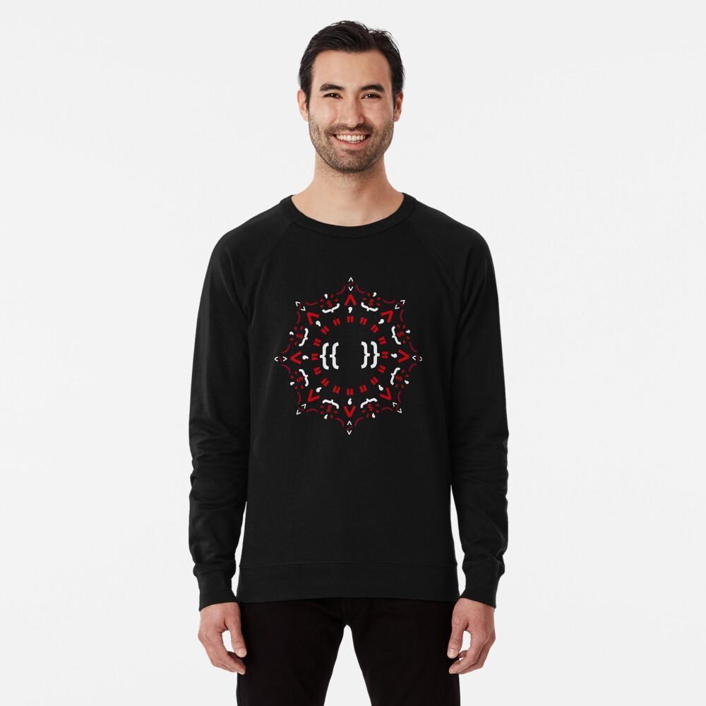 Code Mandala - Eckiges Framework - dunkle Version Leichter Pullover