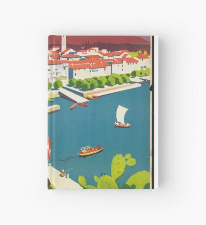 Vintage Ascona Switzerland Travel Advertisement Art Posters Hardcover Journal