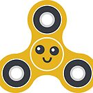 Cute Fidget Spinner Sticker by DetourShirts