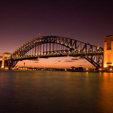 Sydney Harbour Bridge Sunset by outafocus