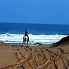 Horse Riding - Birubi Point NSW by Bev Woodman