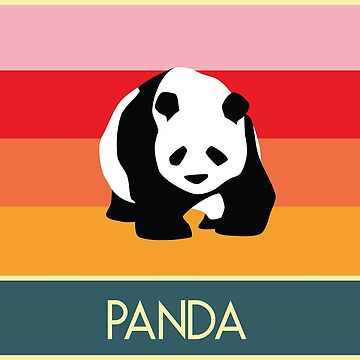 Panda retro style (vintage animals) by Veggie-love
