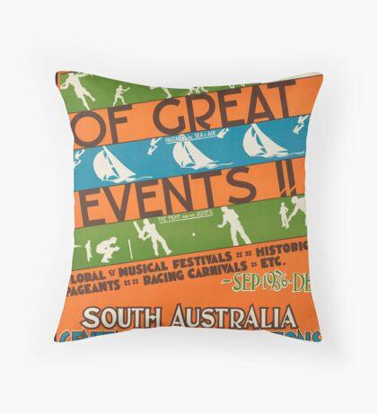 Vintage South Australia Travel Advertisement Art Poster Throw Pillow