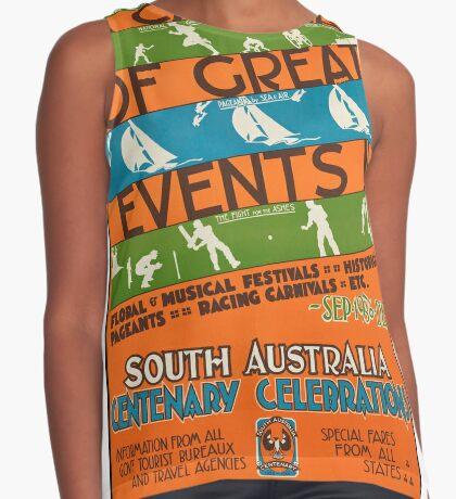 Vintage South Australia Travel Advertisement Art Poster Sleeveless Top