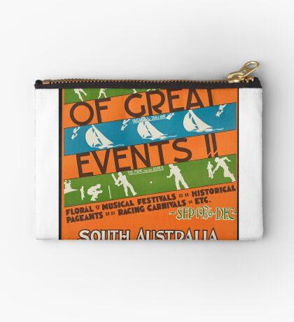 Vintage South Australia Travel Advertisement Art Poster Zipper Pouch