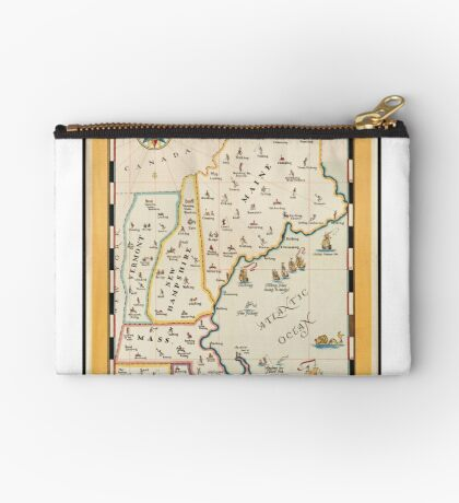 Vintage North East United States Travel Advertisement Art Poster Zipper Pouch