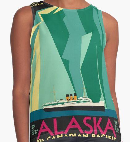 Vintage Alaska Travel Advertisement Art Poster Sleeveless Top