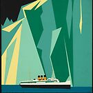 Vintage Alaska Travel Advertisement Art Poster by jnniepce