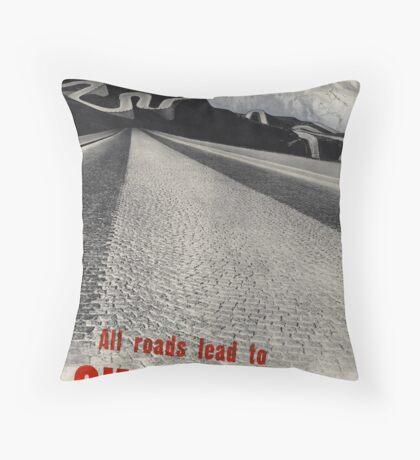 Vintage Switzerland Travel Advertisement Art Poster Throw Pillow