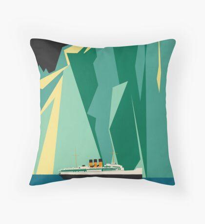Vintage Alaska Travel Advertisement Art Poster Throw Pillow