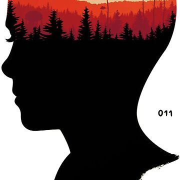 STRANGER THINGS - Eleven's Head (Color) by p-a-z