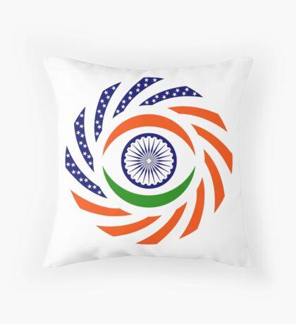 Indian American Multinational Patriot Flag Series Throw Pillow