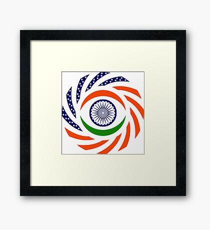 Indian American Multinational Patriot Flag Series Framed Print