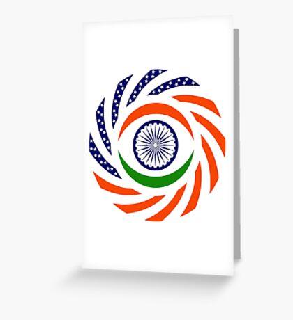 Indian American Multinational Patriot Flag Series Greeting Card