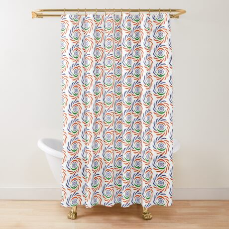 Indian American Multinational Patriot Flag Series Shower Curtain