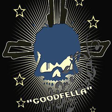 Goodfella - Mafia - Mobster - Cosa Nostra - Skull Design by lemmy666