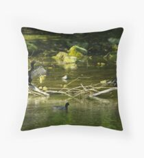 Two Shags on a Stick Throw Pillow