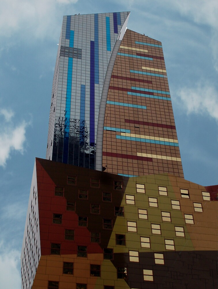 Ny City abstract building by Linda Hollins