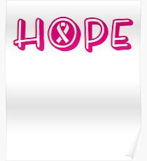 Hope Breast Cancer Awareness T-Shirt Poster