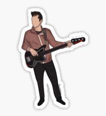 the bass guitar Sticker