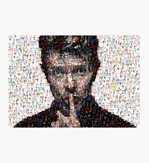 David Bowie Mosaic Art 3 Photographic Print