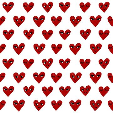 Heart love valentines day gifts hearts with faces cute valentine by charlottewinter