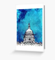 Stormy Weather Over The Capitol Greeting Card